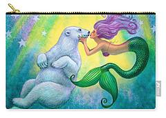 Polar Bear Kiss Carry-all Pouch by Sue Halstenberg