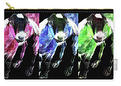 Pop Art Goats Trio - Sharon Cummings Carry-all Pouch by Sharon Cummings