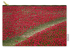 Poppies Of Remembrance Carry-all Pouch by Martin Newman