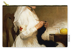 Portrait Of A Nurse From The Red Cross Carry-all Pouch by Gabriel Emile Niscolet