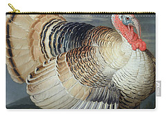 Portrait Of A Turkey  Carry-all Pouch by Johann Wenceslaus Peter Wenzal