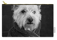 Portrait Of A Westie Dog Carry-all Pouch by Edward Fielding