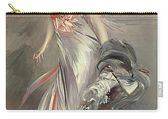 Portrait Of Marthe Regnier Carry-all Pouch by Giovanni Boldini
