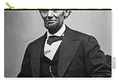 Portrait Of President Abraham Lincoln Carry-all Pouch by International  Images