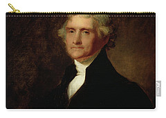 Portrait Of Thomas Jefferson Carry-all Pouch by Asher Brown Durand