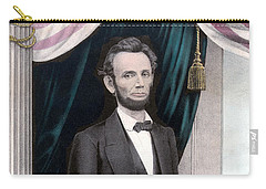 President Abraham Lincoln In Color Carry-all Pouch by War Is Hell Store