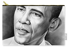 President Barack Obama Carry-all Pouch by Greg Joens