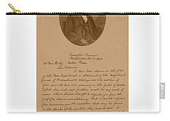 President Lincoln's Letter To Mrs. Bixby Carry-all Pouch by War Is Hell Store