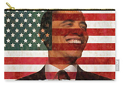 President Obama Hope Carry-all Pouch by Dan Sproul