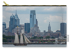 Pride Of Baltimore II Philadelphia Skyline Carry-all Pouch by Terry DeLuco
