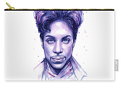 Prince Purple Watercolor Carry-all Pouch by Olga Shvartsur