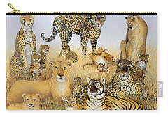 The Big Cats Carry-all Pouch by Pat Scott