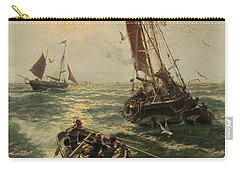 Putting The Catch Ashore Carry-all Pouch by Thomas Rose Miles