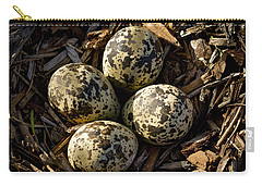 Quartet Of Killdeer Eggs By Jean Noren Carry-all Pouch by Jean Noren