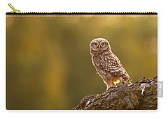 Qui, Moi? Little Owlet In Warm Light Carry-all Pouch by Roeselien Raimond