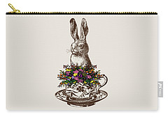 Rabbit In A Teacup Carry-all Pouch by Eclectic at HeART