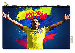 Radamel Falcao Carry-all Pouch by Semih Yurdabak