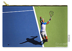 Rafeal Nadal Tennis Serve Carry-all Pouch by Nishanth Gopinathan