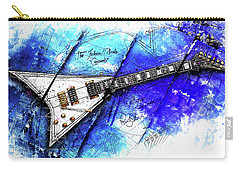 Randy's Guitar On Blue II Carry-all Pouch by Gary Bodnar