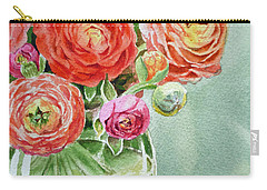 Ranunculus In The Glass Vase Carry-all Pouch by Irina Sztukowski