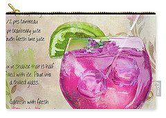 Rasmopolitan Mixed Cocktail Recipe Sign Carry-all Pouch by Mindy Sommers