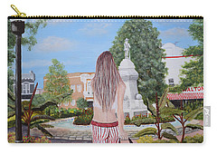 Razorback Swagger At Bentonville Square Carry-all Pouch by Belinda Nagy