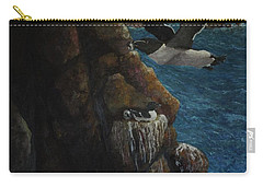 Razorbills Carry-all Pouch by Eric Petrie