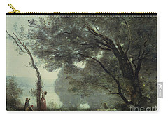 Recollections Of Mortefontaine Carry-all Pouch by Jean Baptiste Corot