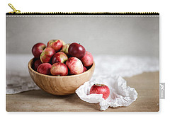Red Apples Still Life Carry-all Pouch by Nailia Schwarz