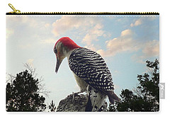 Red-bellied Woodpecker - Tree Top Carry-all Pouch by Al Powell Photography USA