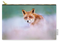 Red Fox In A Mysterious World Carry-all Pouch by Roeselien Raimond