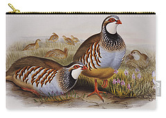 Red-legged Partridges Carry-all Pouch by John Gould
