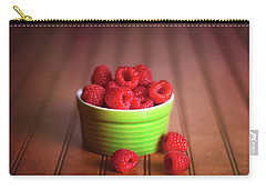 Red Raspberries Still Life Carry-all Pouch by Tom Mc Nemar