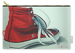 Red Sneakers Carry-all Pouch by Nolan Clark