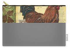 Retro Rooster 2 Carry-all Pouch by Debbie DeWitt