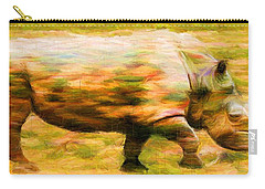 Rhinocerace Carry-all Pouch by Caito Junqueira