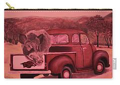 Ridin' With Razorbacks 3 Carry-all Pouch by Belinda Nagy