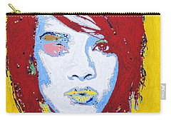 Rihanna  Carry-all Pouch by Stormm Bradshaw
