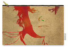Rihanna Watercolor Portrait Carry-all Pouch by Design Turnpike