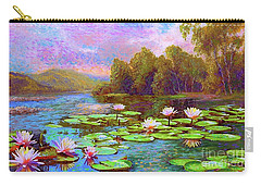 The Wonder Of Water Lilies Carry-all Pouch by Jane Small
