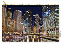 River View Of The Windy City Carry-all Pouch by Frozen in Time Fine Art Photography