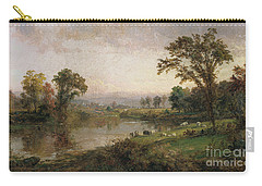 Riverscape In Early Autumn Carry-all Pouch by Jasper Francis Cropsey