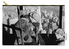 Riveters On The Empire State Building Carry-all Pouch by LW Hine