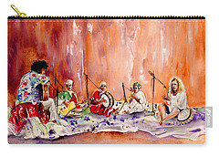 Robert Plant And Jimmy Page In Morocco Carry-all Pouch by Miki De Goodaboom