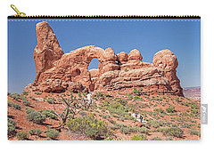 Carry-all Pouch featuring the photograph Rock Formation, Arches National Park, Moab Utah by A Gurmankin