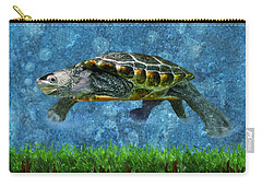 Rodney The Diamondback Terrapin Turtle Carry-all Pouch by Sandi OReilly