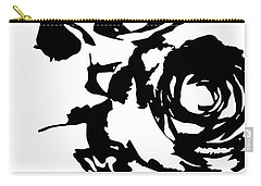 Rose Outline Carry-all Pouch by Cortney Herron