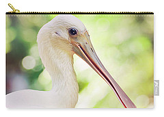 Roseate Spoonbill Carry-all Pouch by Heather Applegate