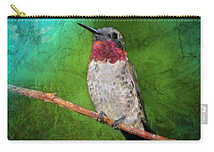 Ruby Throated Hummingbird Carry-all Pouch by Betty LaRue