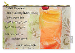 Rum Runner Mixed Cocktail Recipe Sign Carry-all Pouch by Mindy Sommers